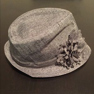 Grey Tweed Hat